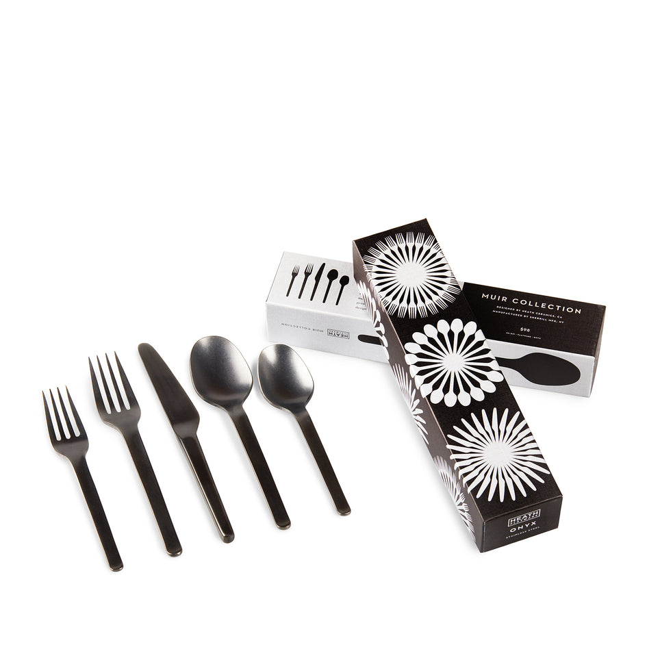 Muir Flatware in Onyx (5 Piece Setting) Zoom Image 3