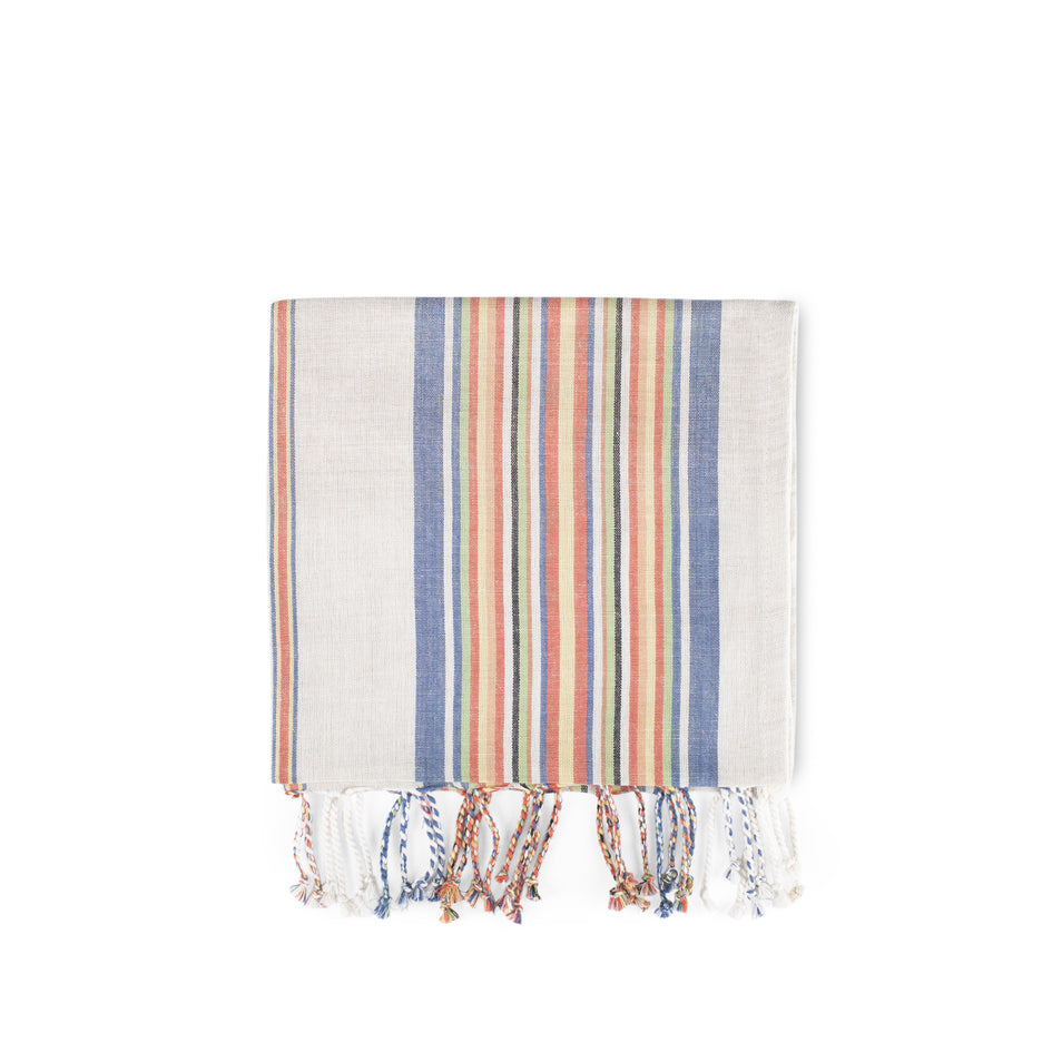 Multi Stripe Tea Towel Image 1