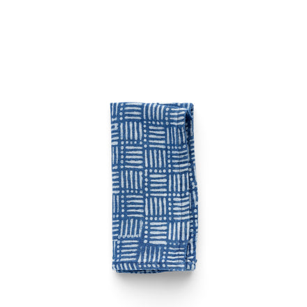 Hatch Napkin in Indigo