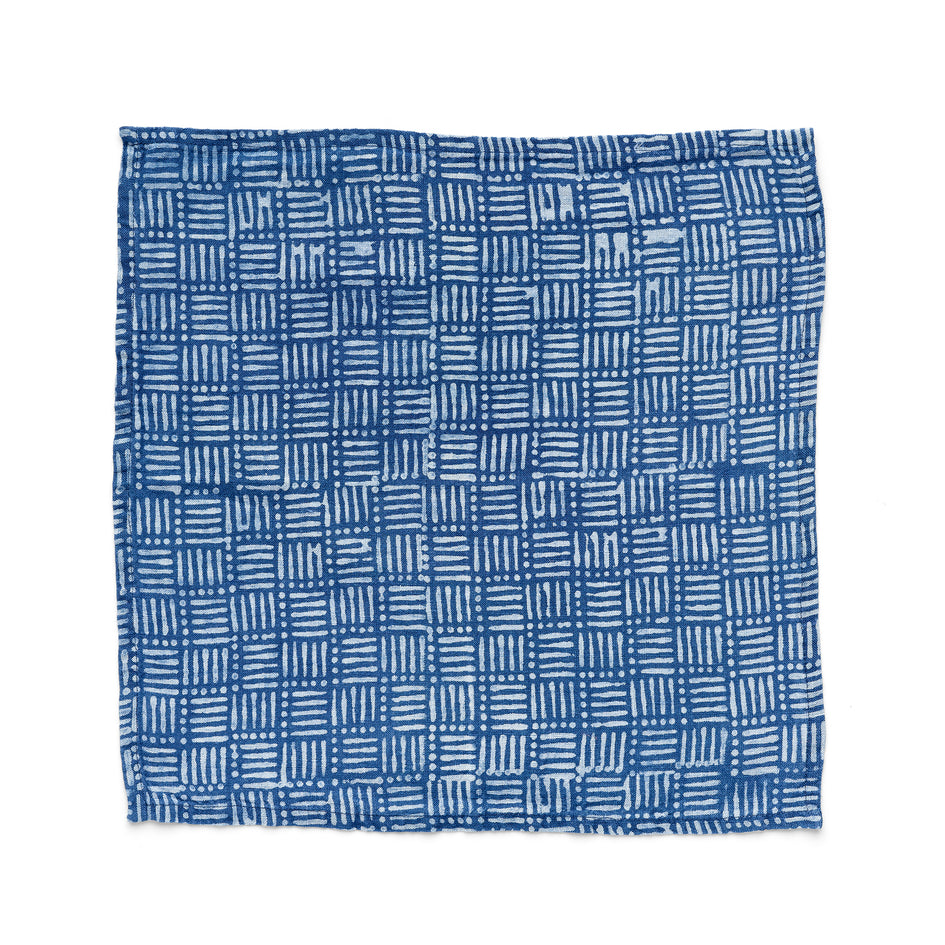 Hatch Napkin in Indigo Image 2