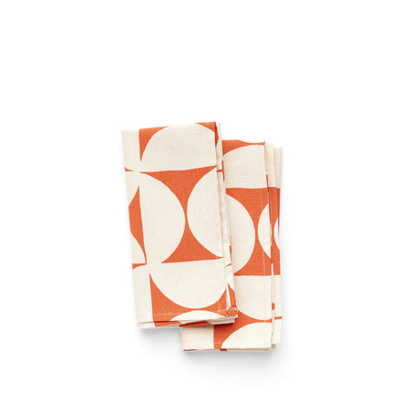 Breeze Napkins in Persimmon (Set of 2)
