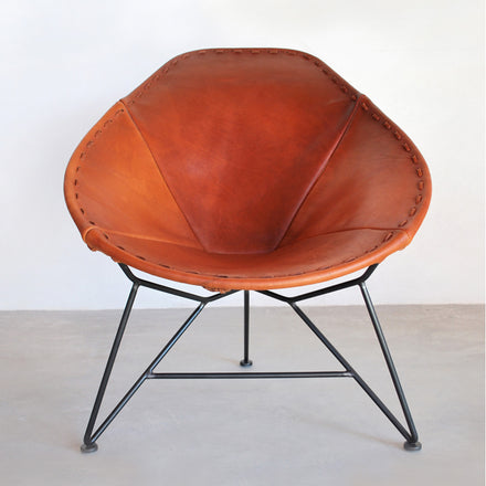 Leather Oval Chair