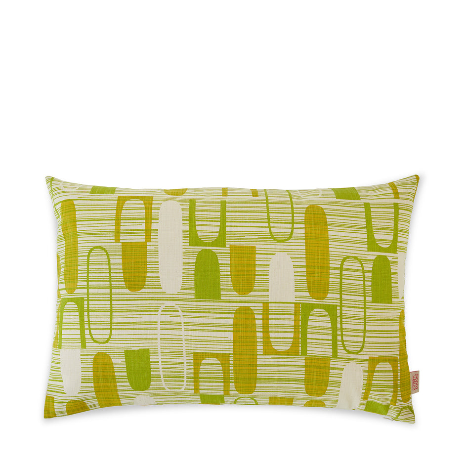 Ovals Pillow in Green Image 1