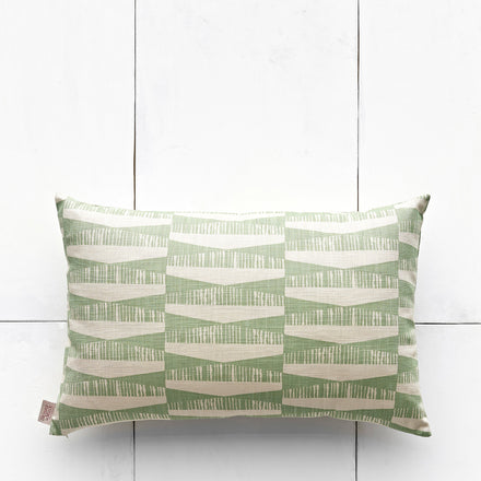 Pillow in Sage Diamonds