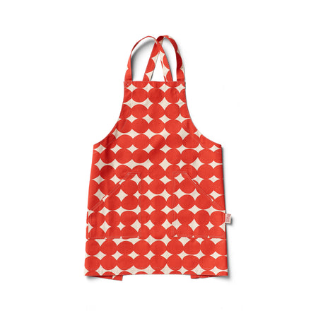 Pebble Pinny Apron in Tomato