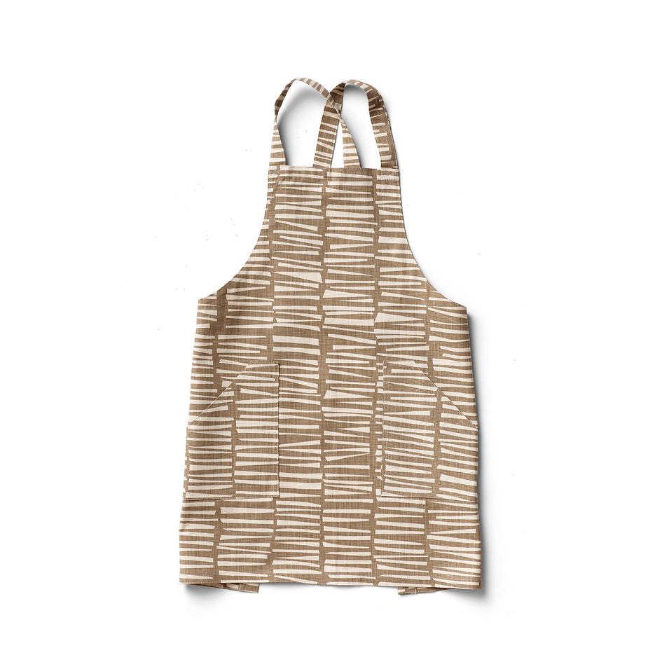 Woodpile Pinny Apron in Cocoa Image 1