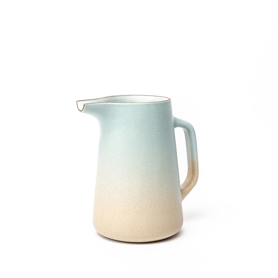 Large Pitcher in Aqua and Barley Image 1