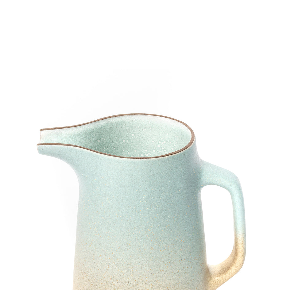 Large Pitcher in Aqua and Barley Image 3