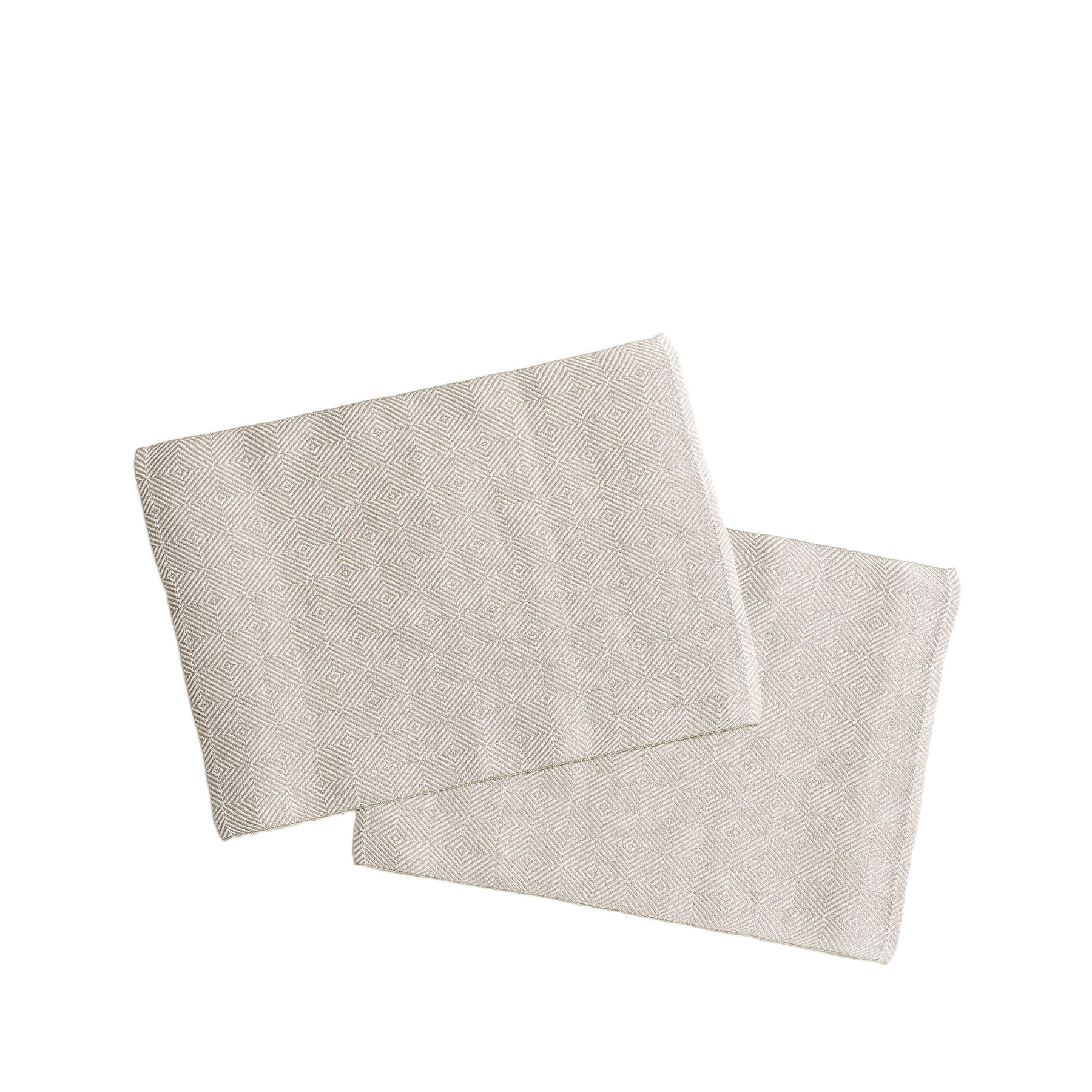 Linen Rutig Strandrag Placemats in White (Set of 2) Zoom Image 1