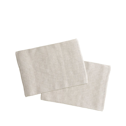 Linen Rutig Strandrag Placemats in White (Set of 2)