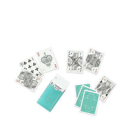 Playing Cards in Green