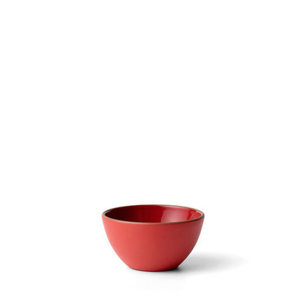 Plaza Dessert Bowl in Ruby Red Suede Red