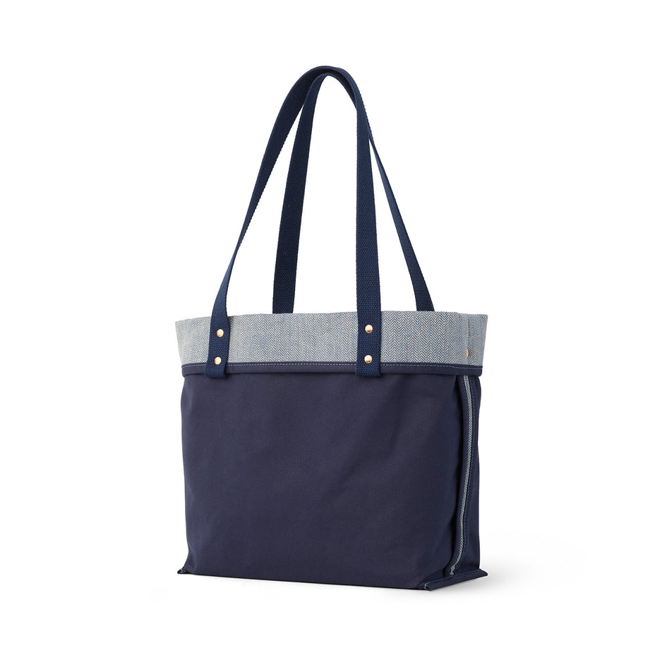 Linen Reversible Tote in Heron Blue Image 2