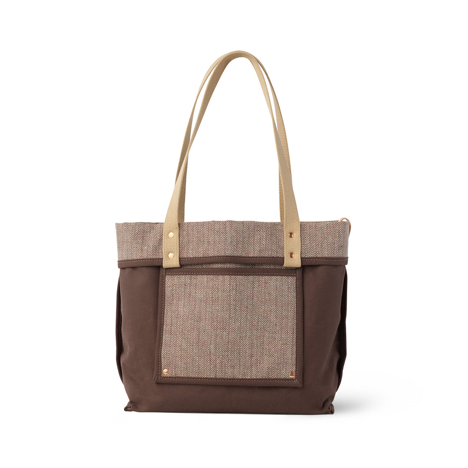 Linen Reversible Tote in Hickory Image 4