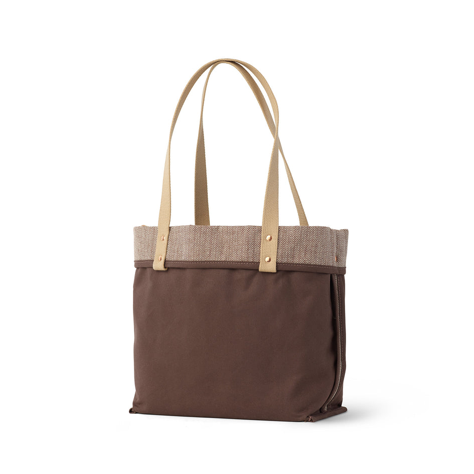 Linen Reversible Tote in Hickory Image 2