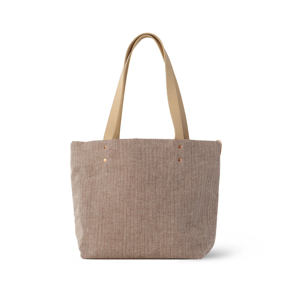 Linen Reversible Tote in Hickory Image 3