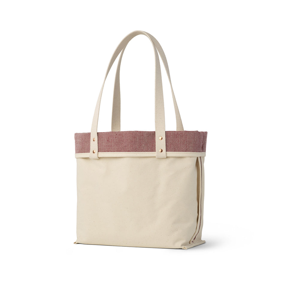 Linen Reversible Tote in Pomegranate Zoom Image 2