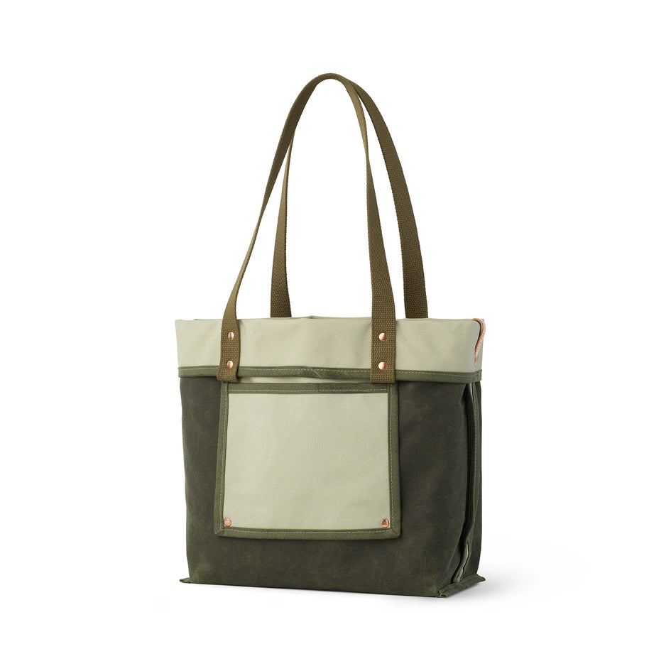 Reversible Tote in Sage Image 1