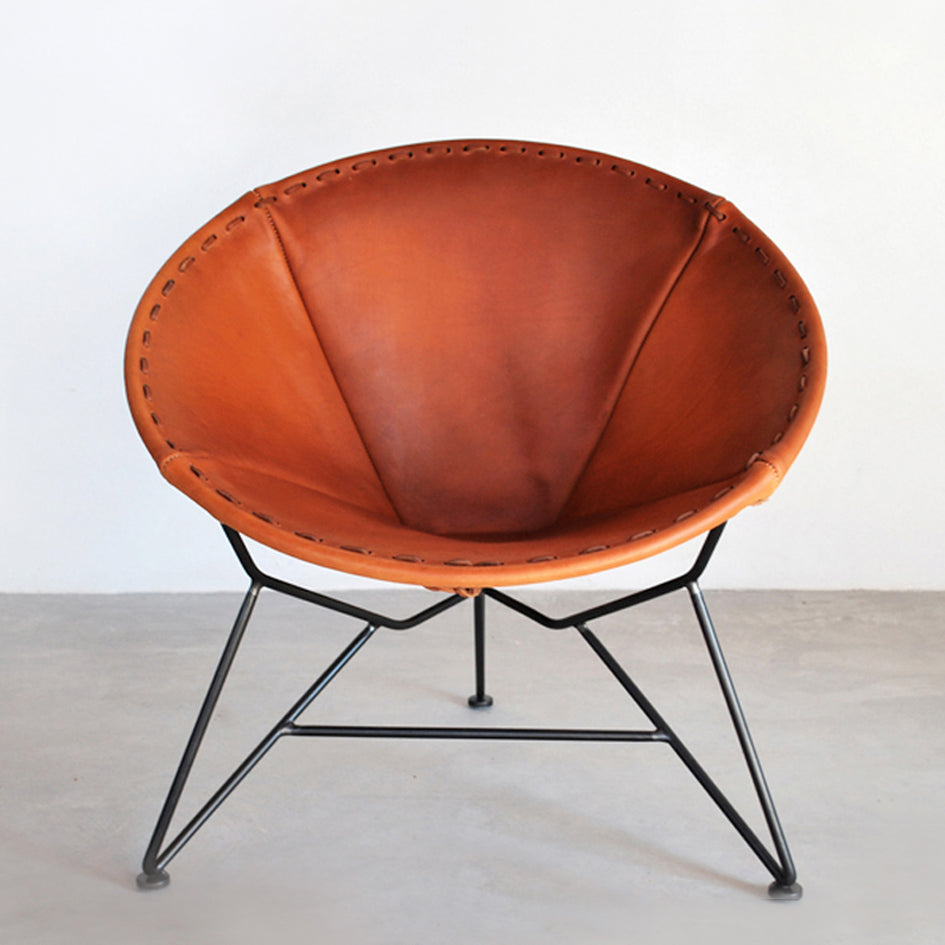 Leather Round Chair Image 1