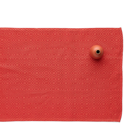 Linen Snackskal Runner in Brick Red/Red