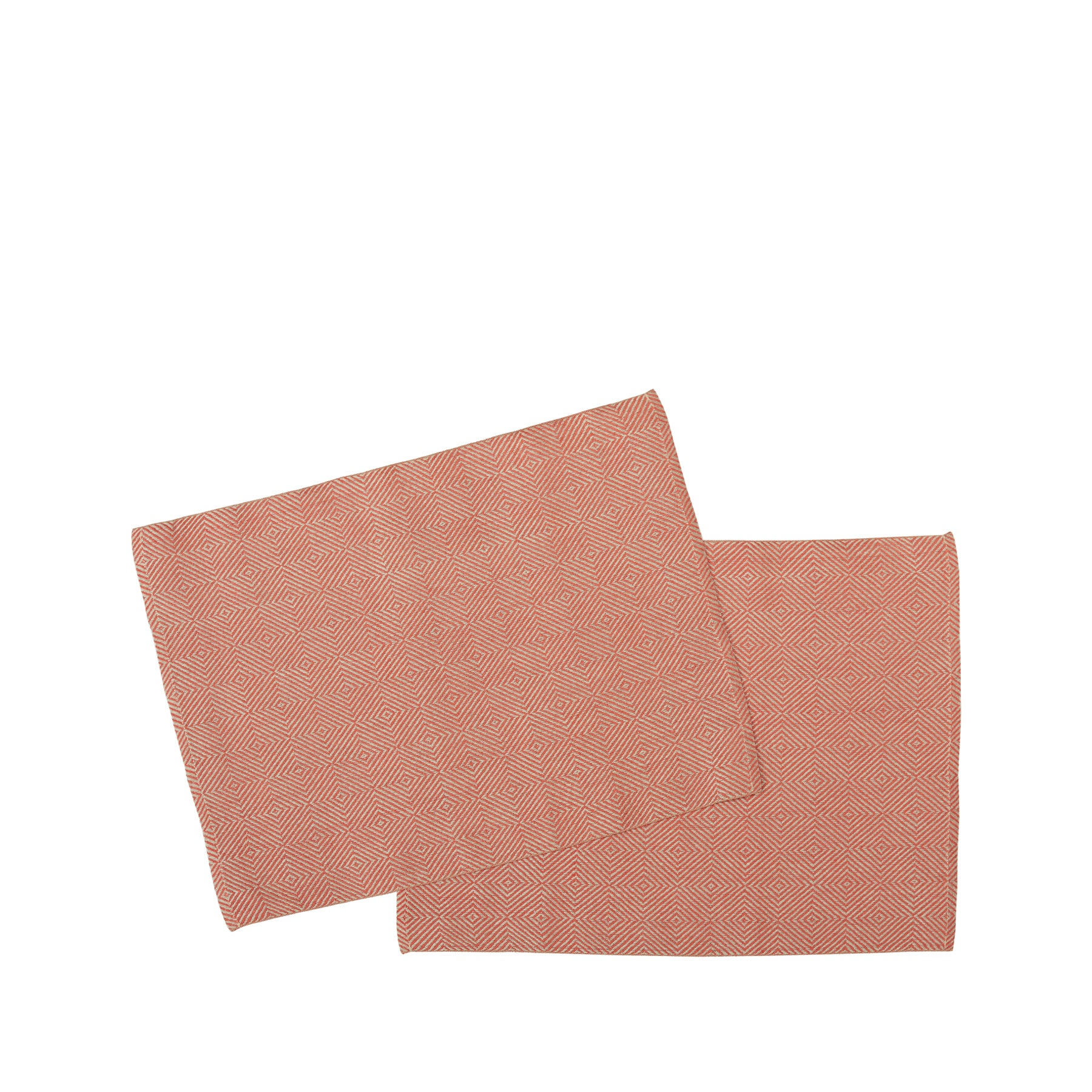 Rutig Strandrag Placemats in Brick Red (Set of 2) Zoom Image 1