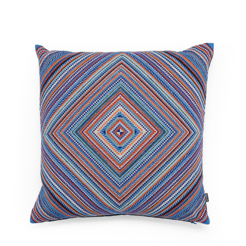 Petra Squares Pillow in Blue Image 1