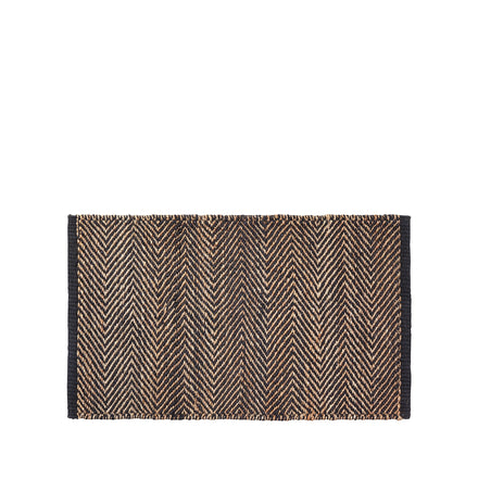 Serengeti Weave Entrance Mat in Charcoal and Natural