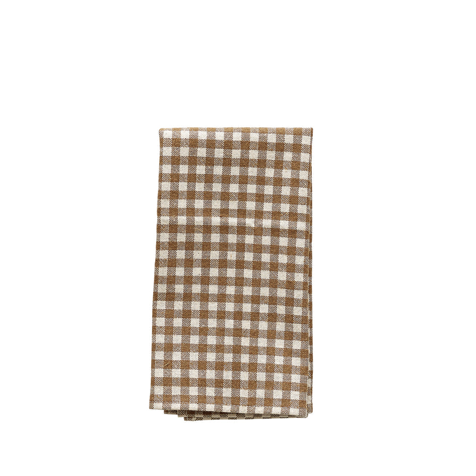 Organic Cotton Gingham Napkins (Set of 4) Image 1