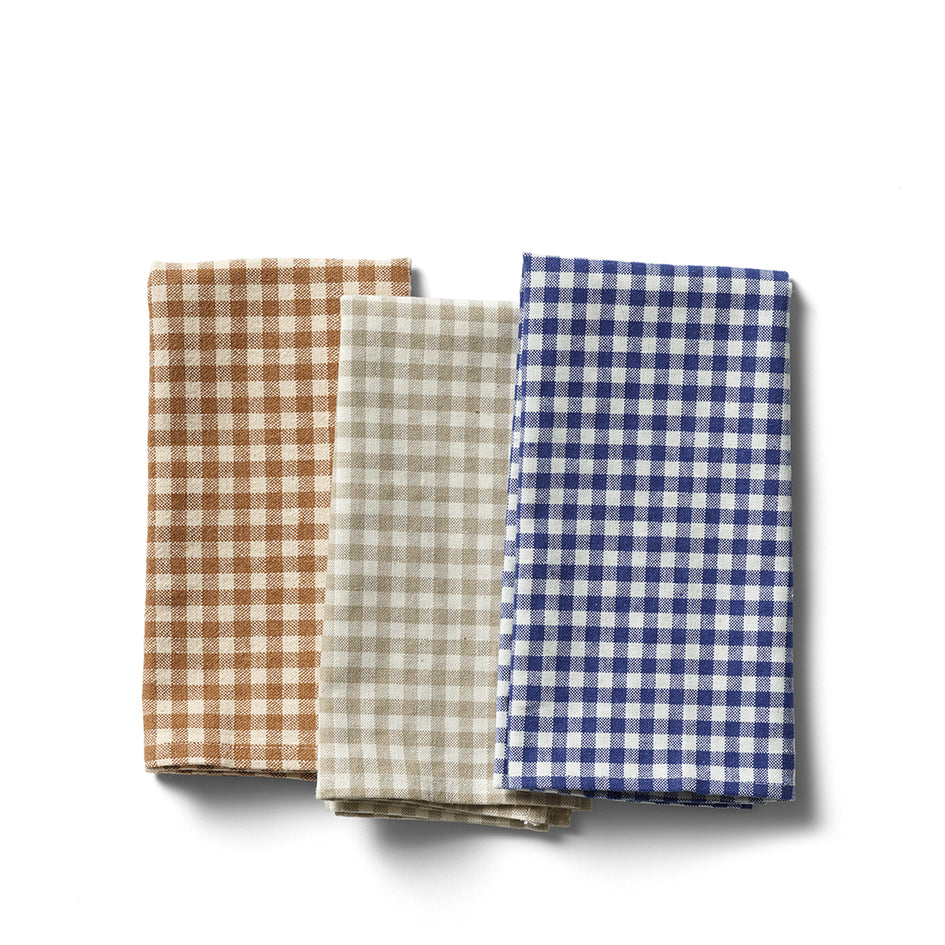 Organic Cotton Gingham Tea Towel Image 2