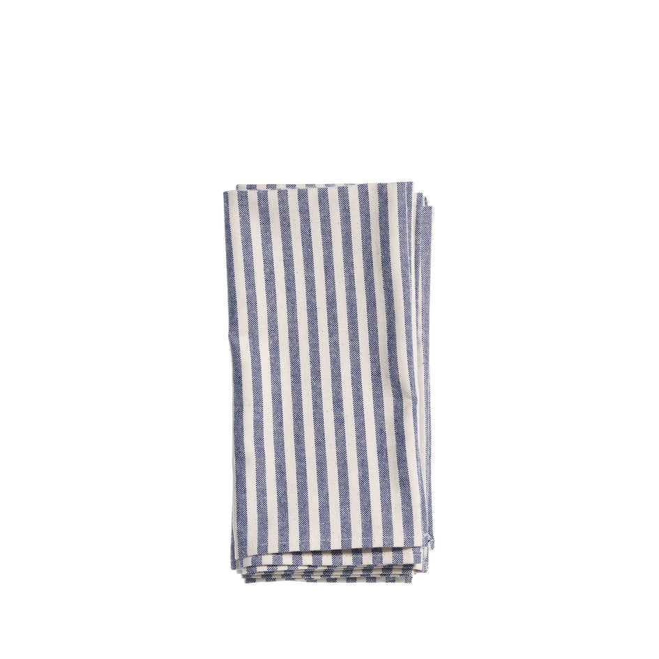 Organic Cotton Ticking Stripe Napkins (Set of 4) Image 1