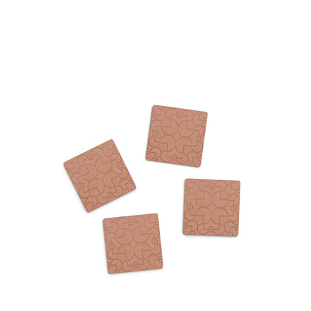Leather Coasters in Arcade (Set of 4)