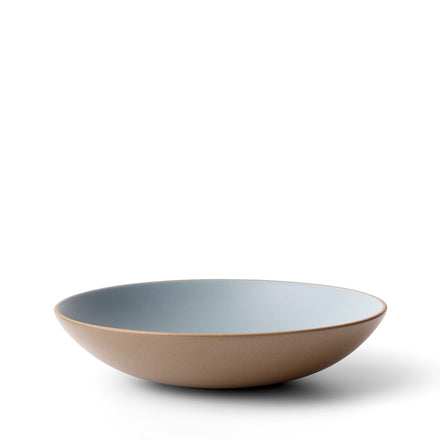 Shallow Salad Bowl in Bluejay/Hickory