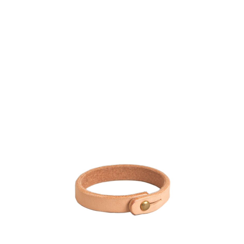 Single Wrap Wristband in Natural/Brass Image 1