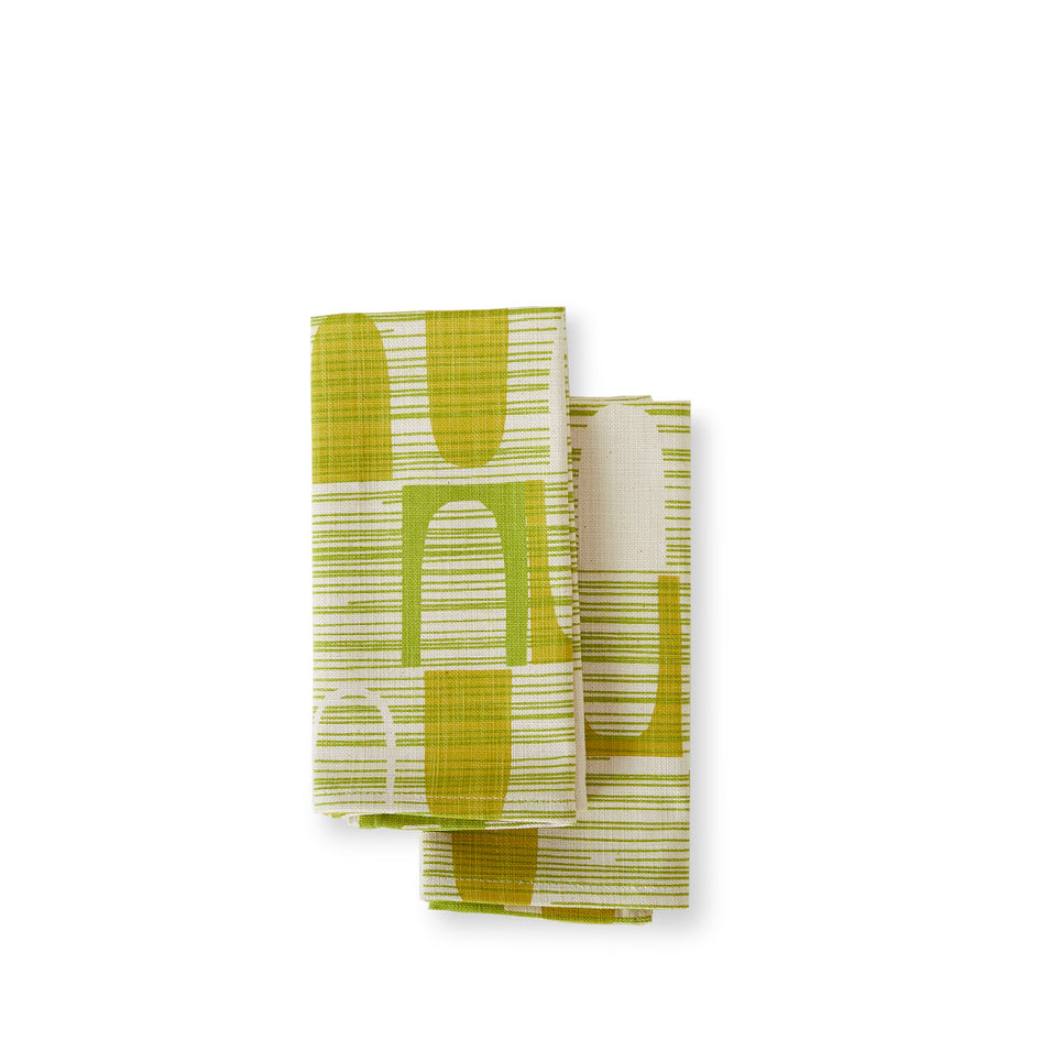 Ovals Napkins in Green (Set of 2) Image 1