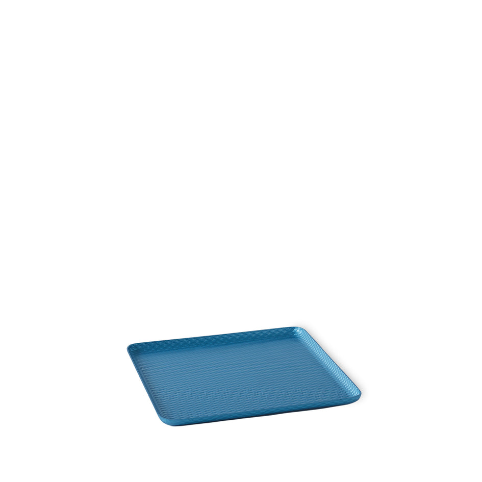 Diamond Pressed Tray in Sky Blue Image 1