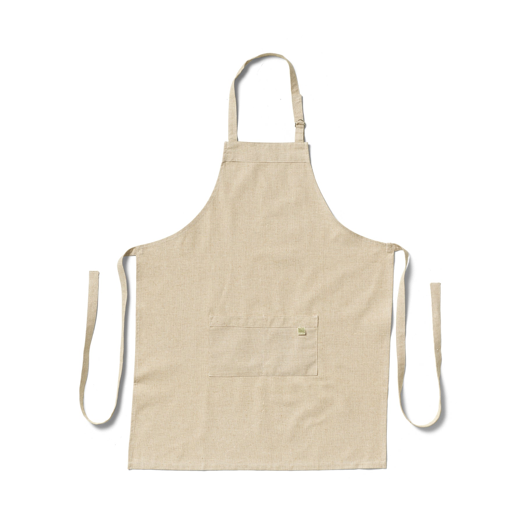 Organic Cotton Apron in Cafe Zoom Image 1