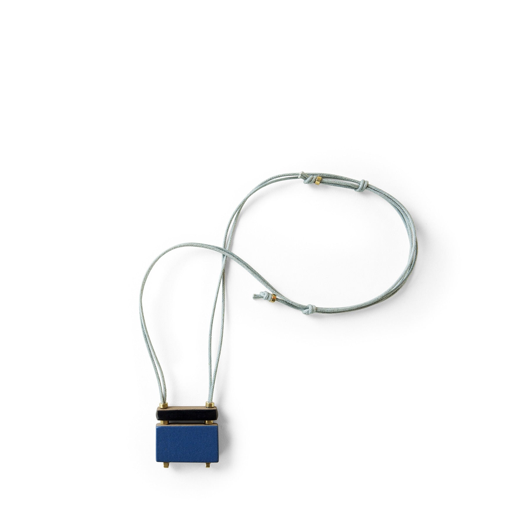 Stacked Bar Necklace in Bay Blue Zoom Image 1