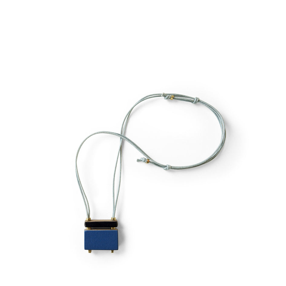 Stacked Bar Necklace in Bay Blue Image 1