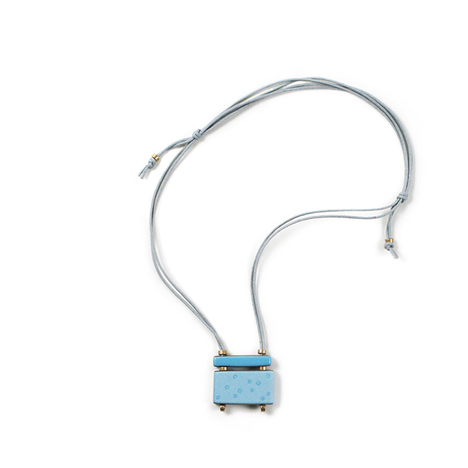 Scatter Stacked Bar Necklace in Horizon Blue Image 1