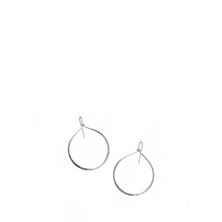 Sterling Droplet Hoop Earrings