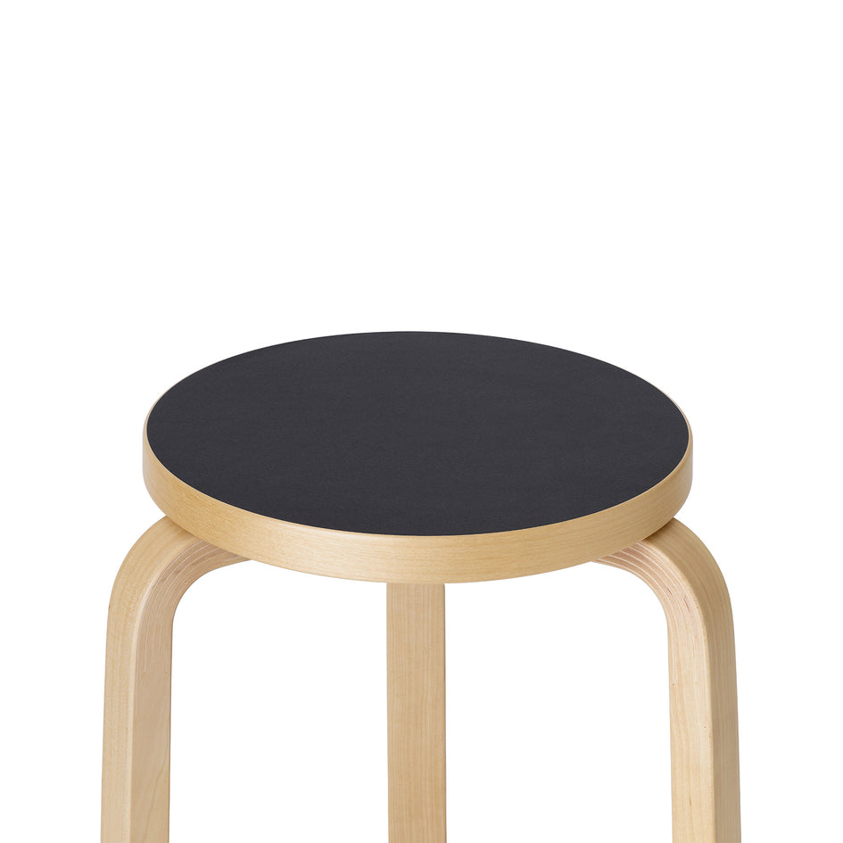 Stool 60 in Natural with Black Linoleum Zoom Image 2