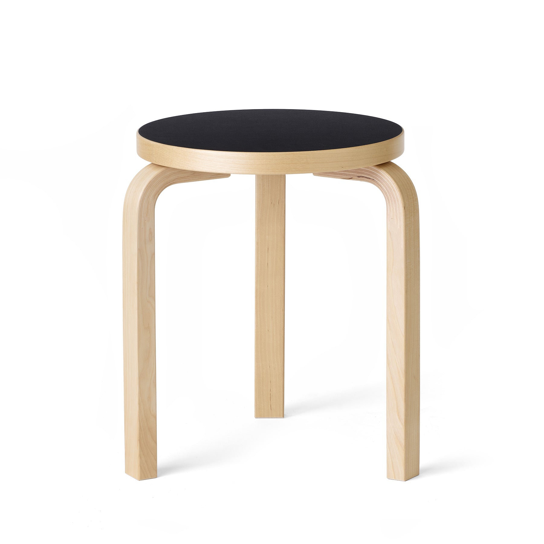 Stool 60 in Natural with Black Linoleum Zoom Image 1