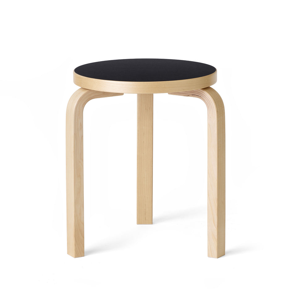Stool 60 in Natural with Black Linoleum Image 1