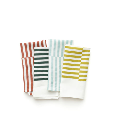 Linen Lightweight Napkins in Ponti Stripe