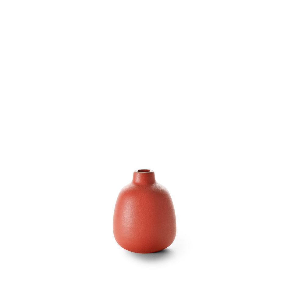 Bud Vase in Suede Red Image 1