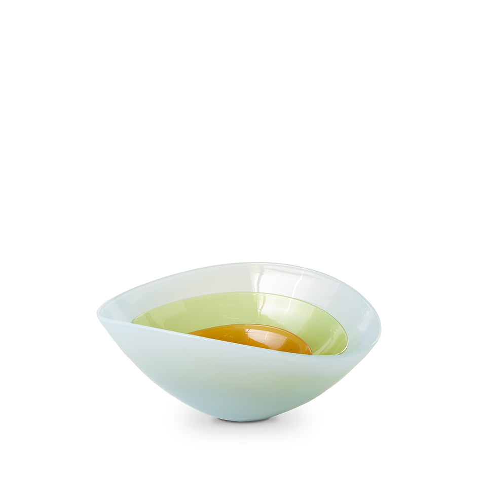 Large Lotus Bowl in Light Blue Zoom Image 3
