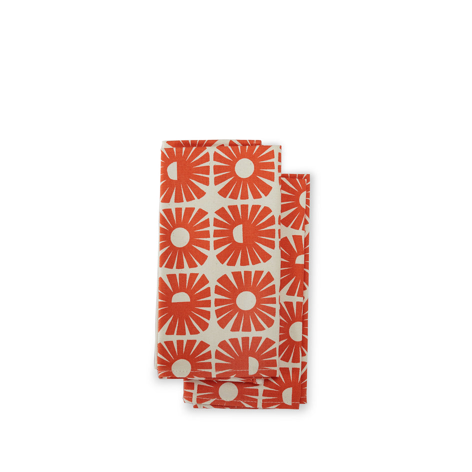 Sunnyside Napkins in Persimmon (Set of 2) Image 1