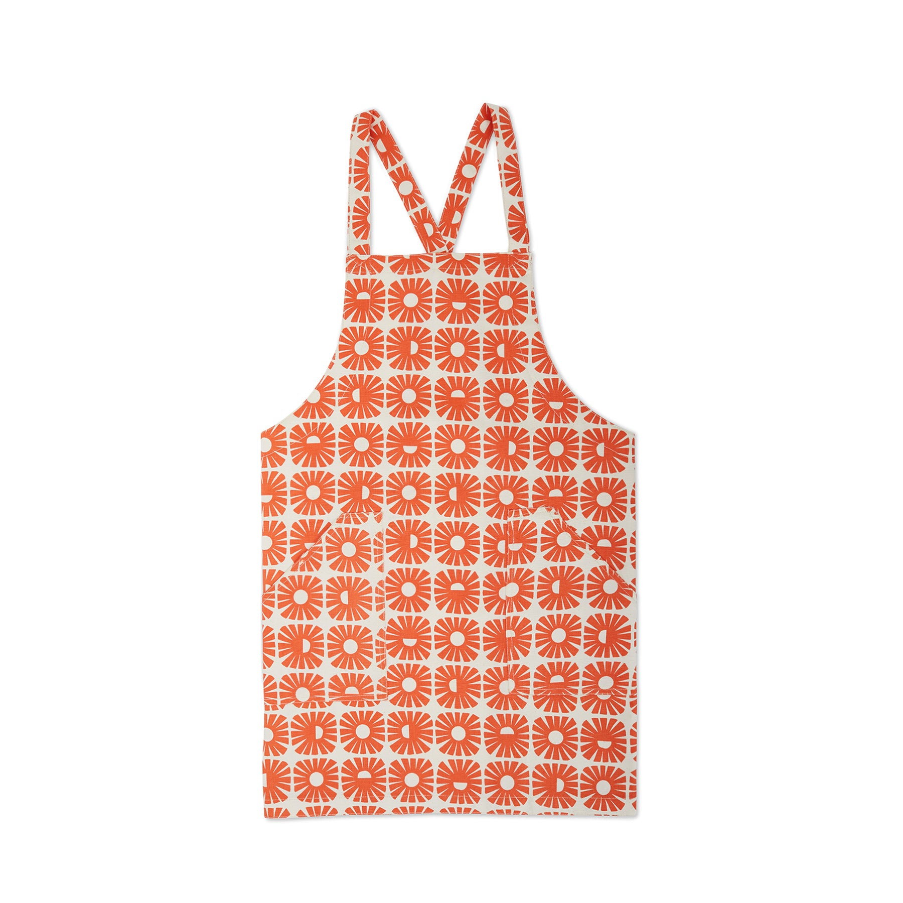 Sunnyside Pinny Apron in Persimmon Zoom Image 1