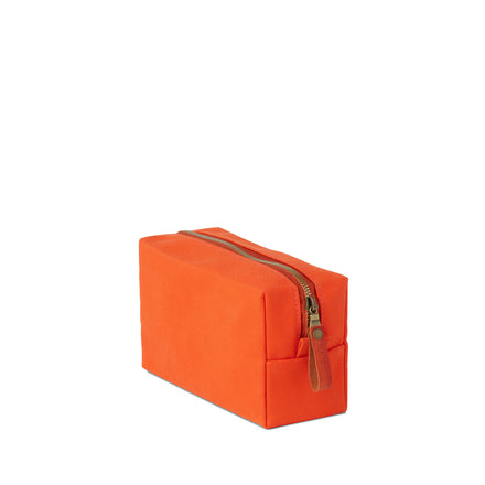Tall Block Pouch in Heath Orange