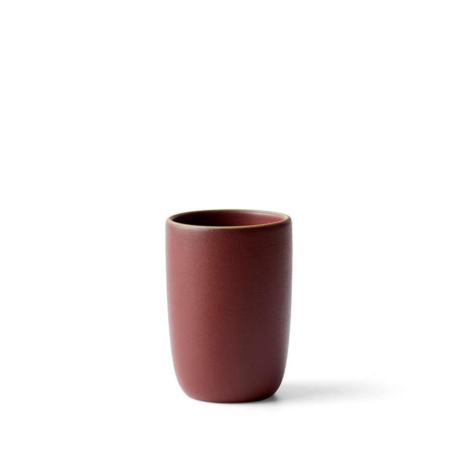 Tall Modern Cup in Black Plum Image 1